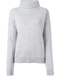 Женский серый свитер с хомутом от Joseph