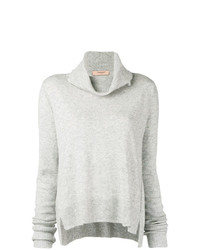 Женский серый свитер с хомутом от Twin-Set