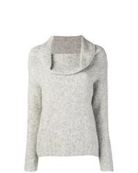Женский серый свитер с хомутом от Vince