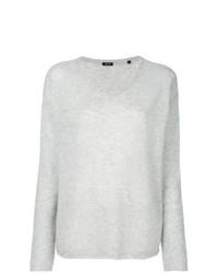 Женский серый свитер с v-образным вырезом от Aspesi
