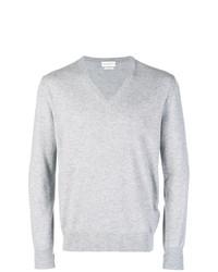 Мужской серый свитер с v-образным вырезом от Ballantyne