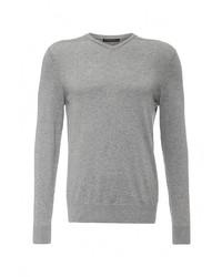 Мужской серый свитер с v-образным вырезом от Baon
