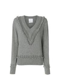 Женский серый свитер с v-образным вырезом от Barrie