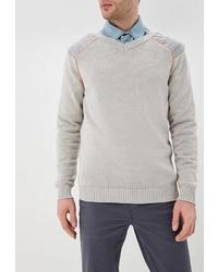 Мужской серый свитер с v-образным вырезом от Elijah & Sims