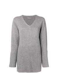 Женский серый свитер с v-образным вырезом от Hemisphere