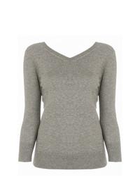 Женский серый свитер с v-образным вырезом от Isabel Marant Etoile