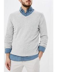 Мужской серый свитер с v-образным вырезом от Kensington Eastside