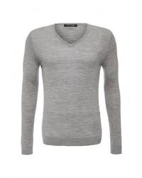 Мужской серый свитер с v-образным вырезом от Marciano Guess