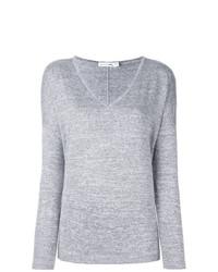 Женский серый свитер с v-образным вырезом от rag & bone/JEAN