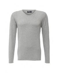 Мужской серый свитер с v-образным вырезом от SPRINGFIELD