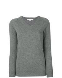 Женский серый свитер с v-образным вырезом от Stella McCartney