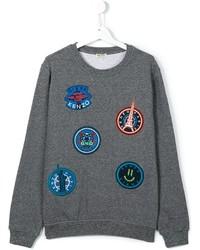 Детский серый свитер для мальчику от Kenzo