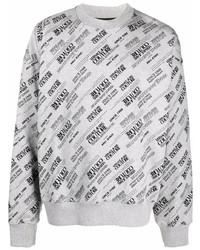 Мужской серый свитшот с принтом от VERSACE JEANS COUTURE