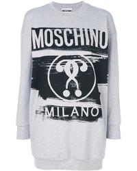 Женский серый свитшот от Moschino