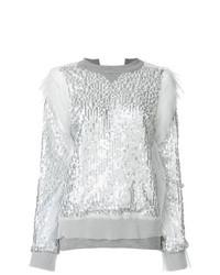 Женский серый свитшот от Sacai
