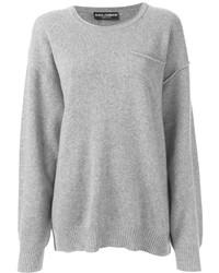 Серый свободный свитер