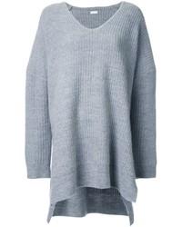 Женский серый свободный свитер