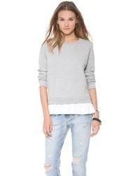 Женский серый свободный свитер от Clu