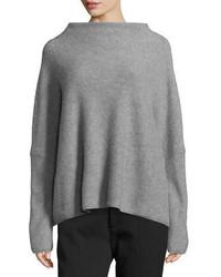 Женский серый свободный свитер от Vince