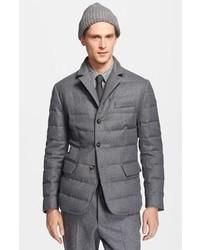 Серый стеганый пиджак