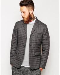 Мужской серый стеганый пиджак от Asos