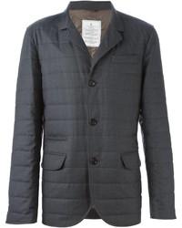 Мужской серый стеганый пиджак от Brunello Cucinelli