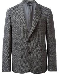 Мужской серый стеганый пиджак от Giorgio Armani