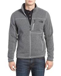 Серый флисовый свитер на молнии
