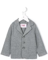Детский серый хлопковый пиджак в клетку для мальчику от Il Gufo
