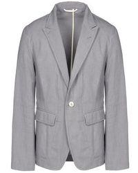 Серый хлопковый пиджак