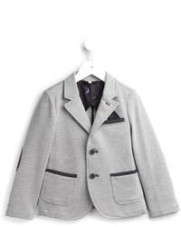 Детский серый хлопковый пиджак для мальчику от Armani Junior