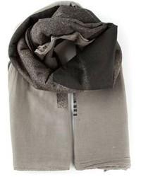 Серый хлопковый шарф