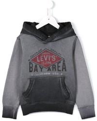 Детский серый худи с принтом для мальчику от Levi's