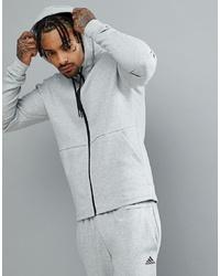 Мужской серый худи от adidas