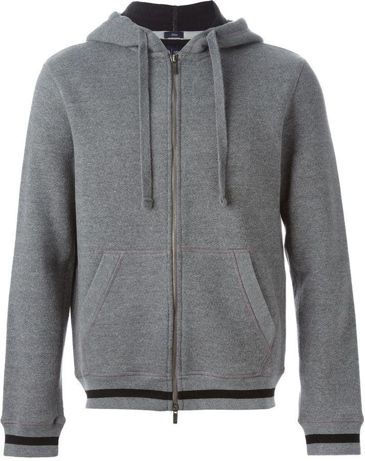 Мужской серый худи от Armani Jeans   Где купить и с чем носить 07cc2148619