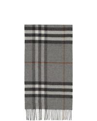 Мужской серый шарф в шотландскую клетку от Burberry