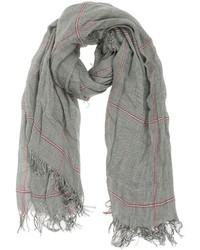 Женский серый шарф в шотландскую клетку от Faliero Sarti