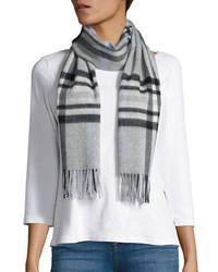 Женский серый шарф в шотландскую клетку от Lord & Taylor