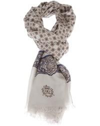 "Мужской серый шарф с ""огурцами"" от Dolce & Gabbana"