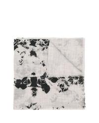 Женский серый шарф с принтом тай-дай от Suzusan