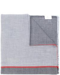 Мужской серый шарф с принтом от Brunello Cucinelli