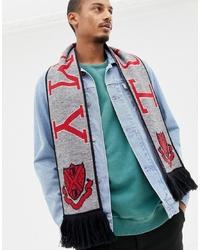 Мужской серый шарф с принтом от Tommy Jeans