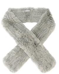 Детский серый шарф для девочке