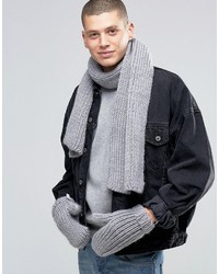 Мужской серый шарф от adidas