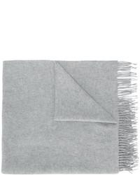 Женский серый шарф от Pringle
