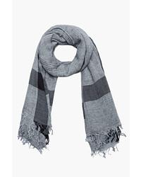 Мужской серый шарф от Rag and Bone