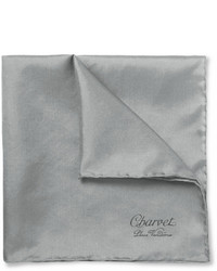 Мужской серый шелковый нагрудный платок от Charvet