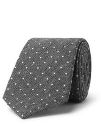 Серый шерстяной галстук в горошек
