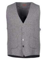 Серый шерстяной жилет