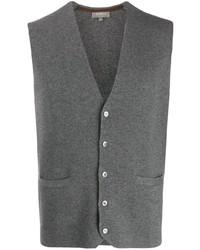 Серый шерстяной жилет от N.Peal